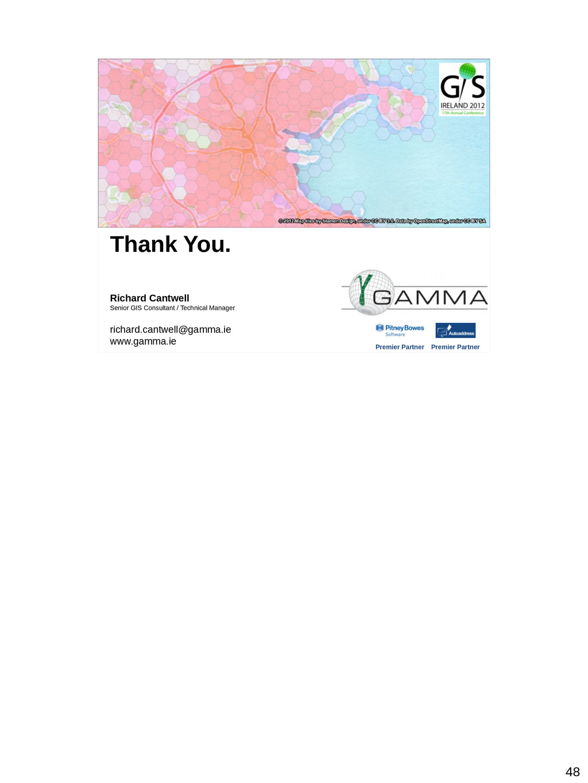48 Thank You. Richard Cantwell Senior GIS Consu...