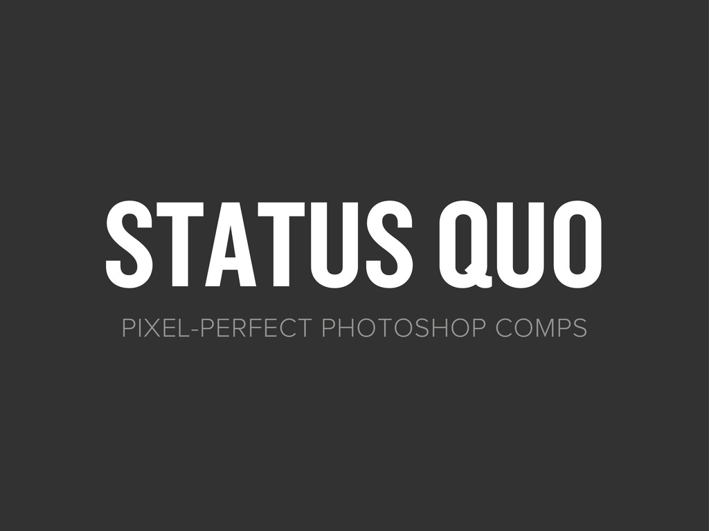 STATUS QUO PIXEL-PERFECT PHOTOSHOP COMPS