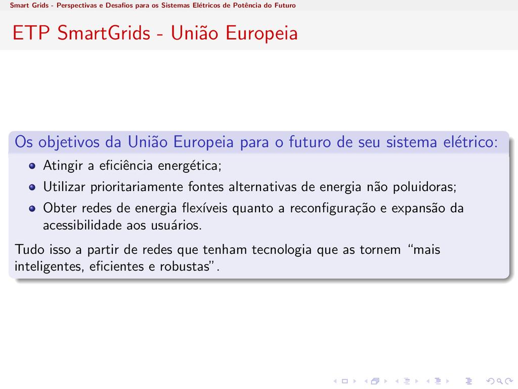 Smart Grids - Perspectivas e Desafios para os Si...