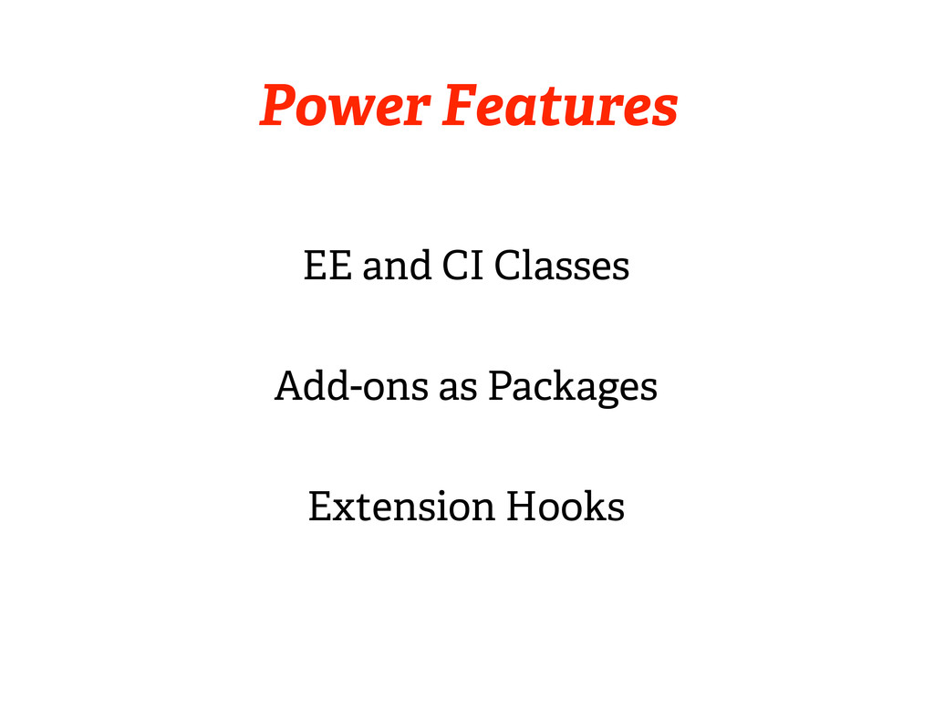 Power Features EE and CI Classes Add-ons as Pac...