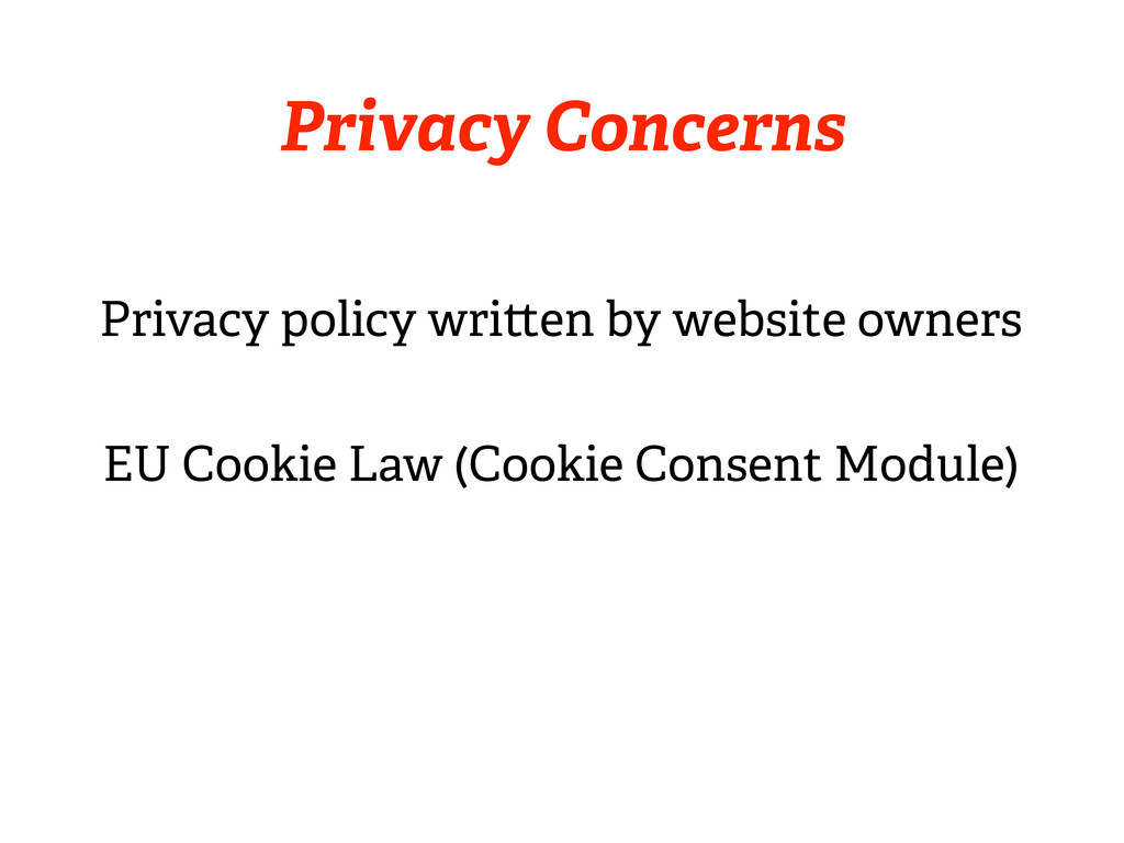 Privacy Concerns Privacy policy wri en by websi...