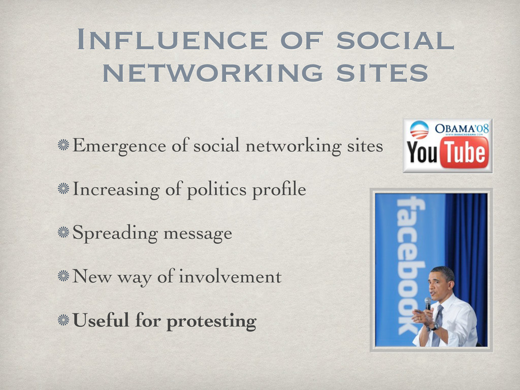 Influence of social networking sites Emergence ...