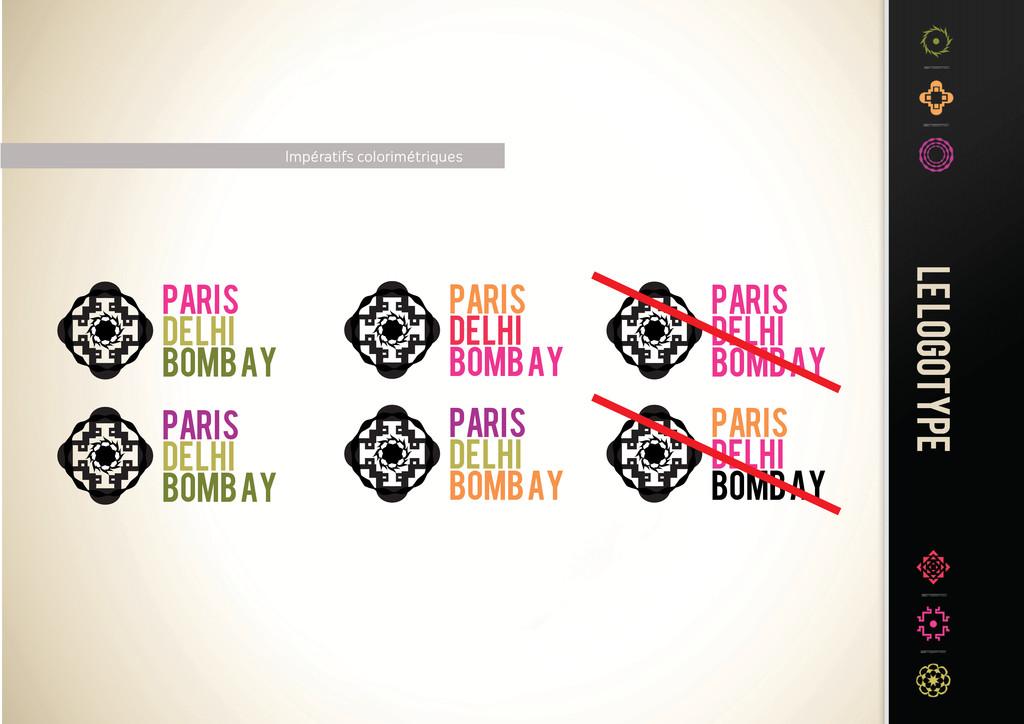Impératifs colorimétriques PARIS DELHI BOMBAY P...