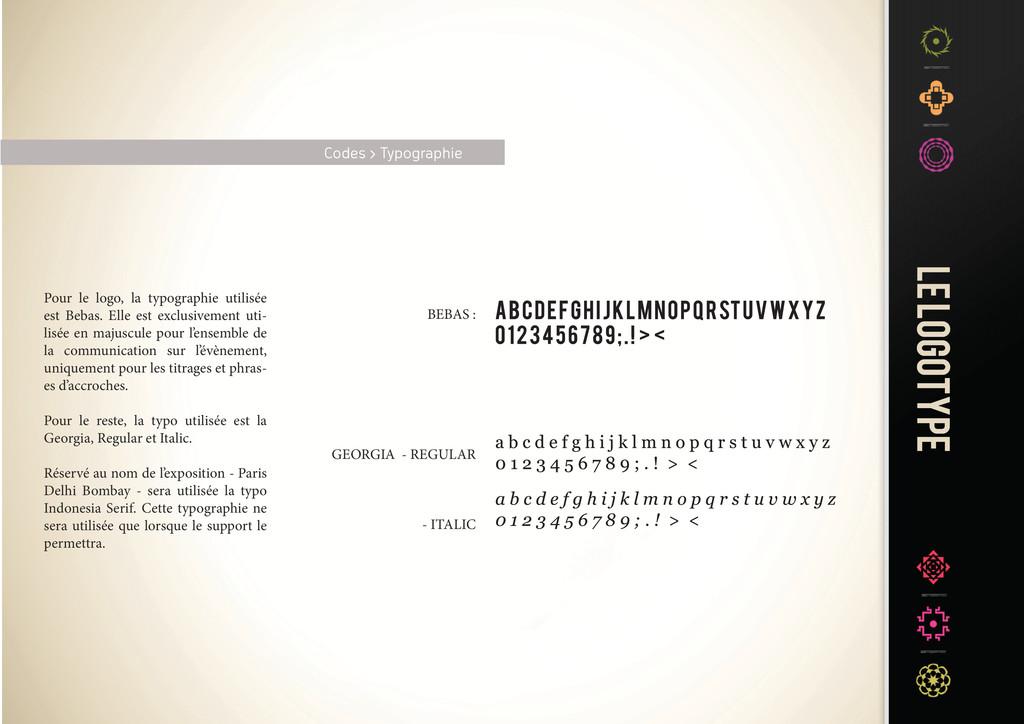Codes > Typographie Pour le logo, la typographi...