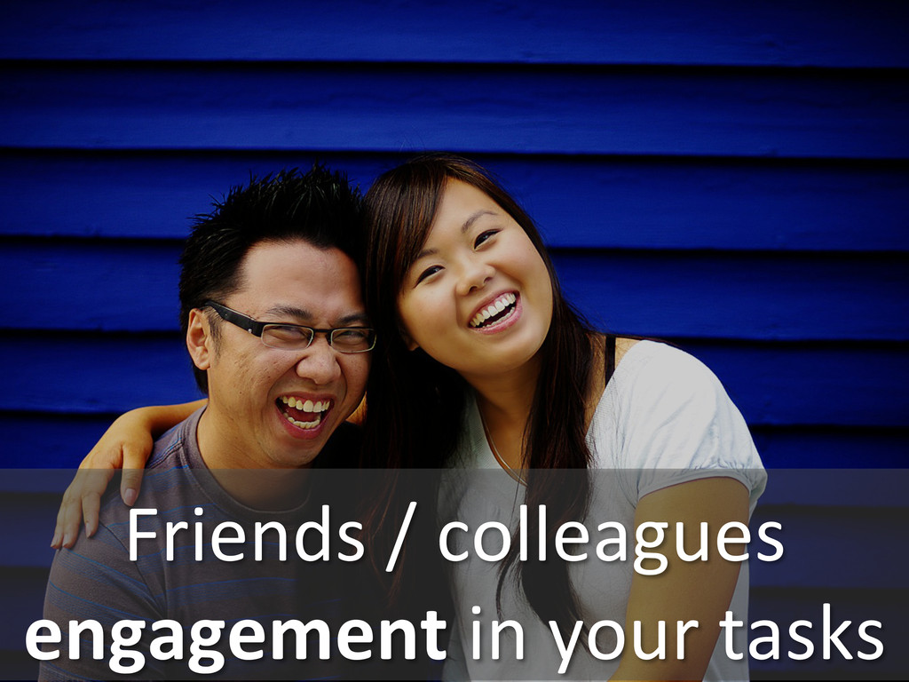 Friends / colleagues  engagement in...