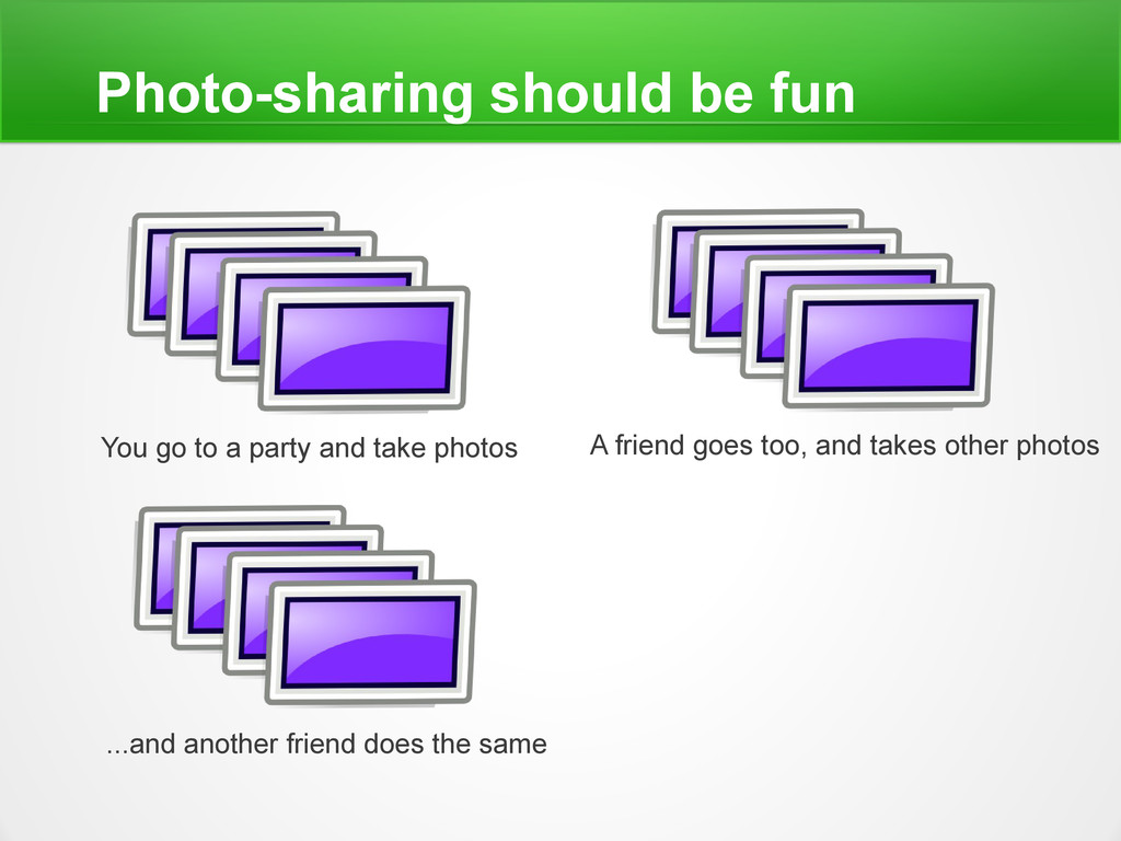 Photo-sharing should be fun You go to a party a...