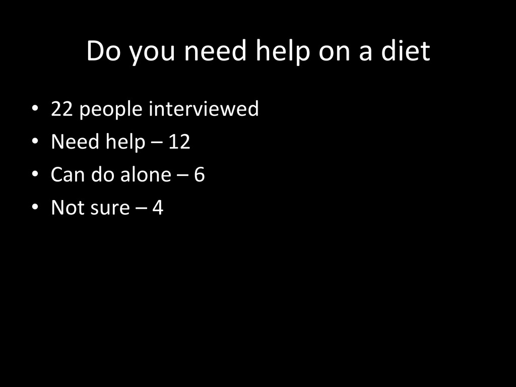Do you need help on a diet ...