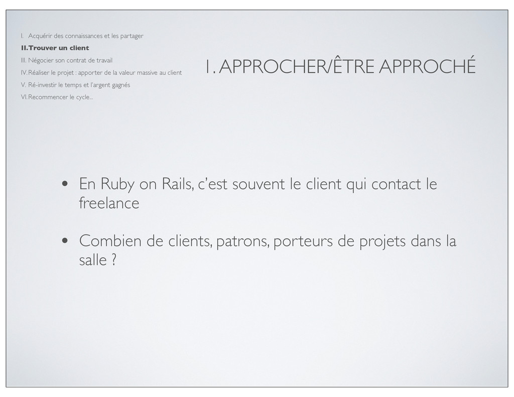 1. APPROCHER/ÊTRE APPROCHÉ • En Ruby on Rails, ...
