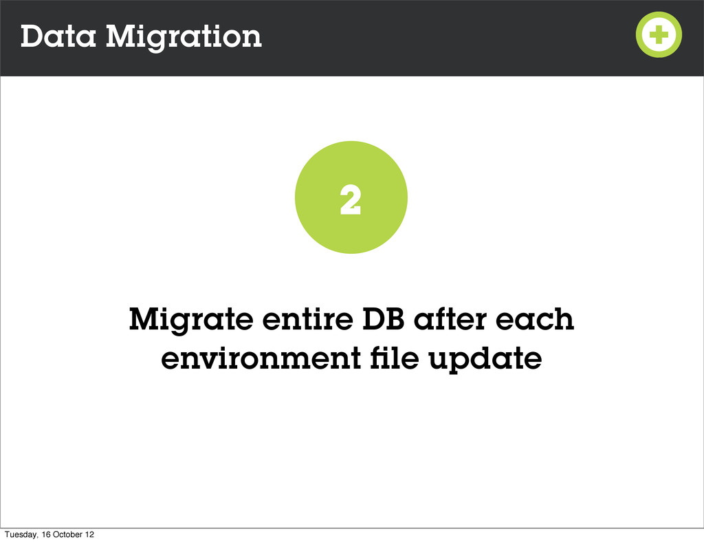 Data Migration Migrate entire DB after each env...