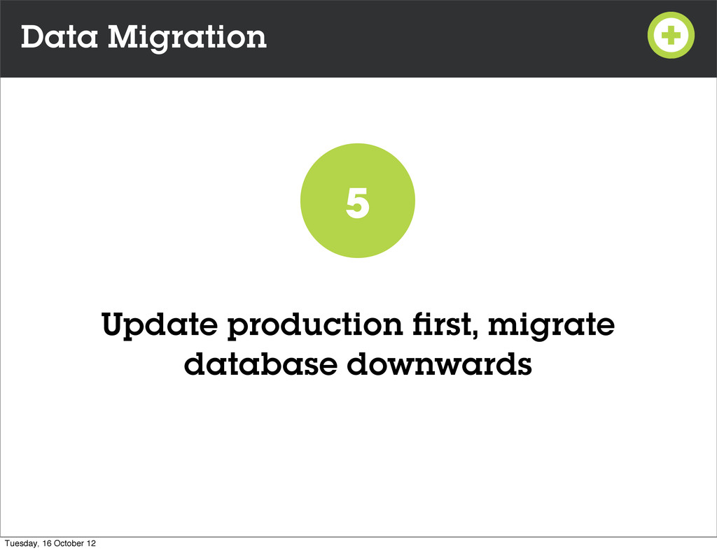Data Migration Update production first, migrate ...