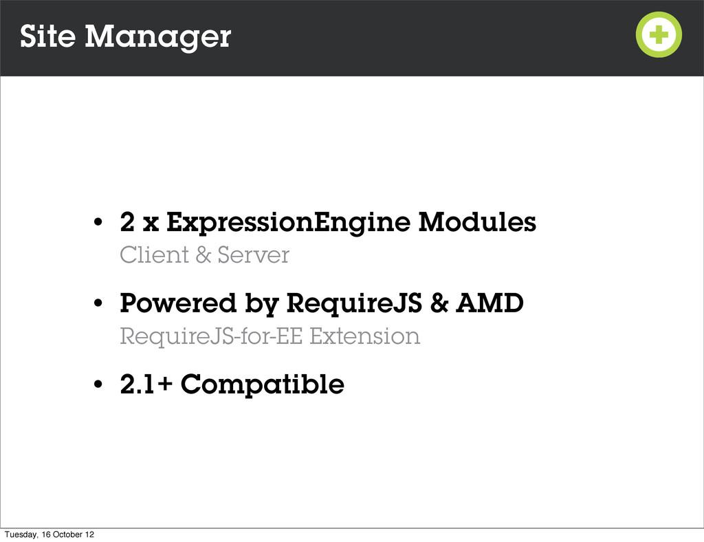 Site Manager • 2 x ExpressionEngine Modules Cli...