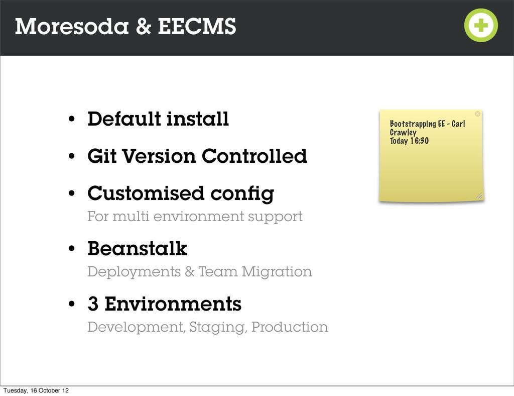 Moresoda & EECMS • Default install • Git Versio...