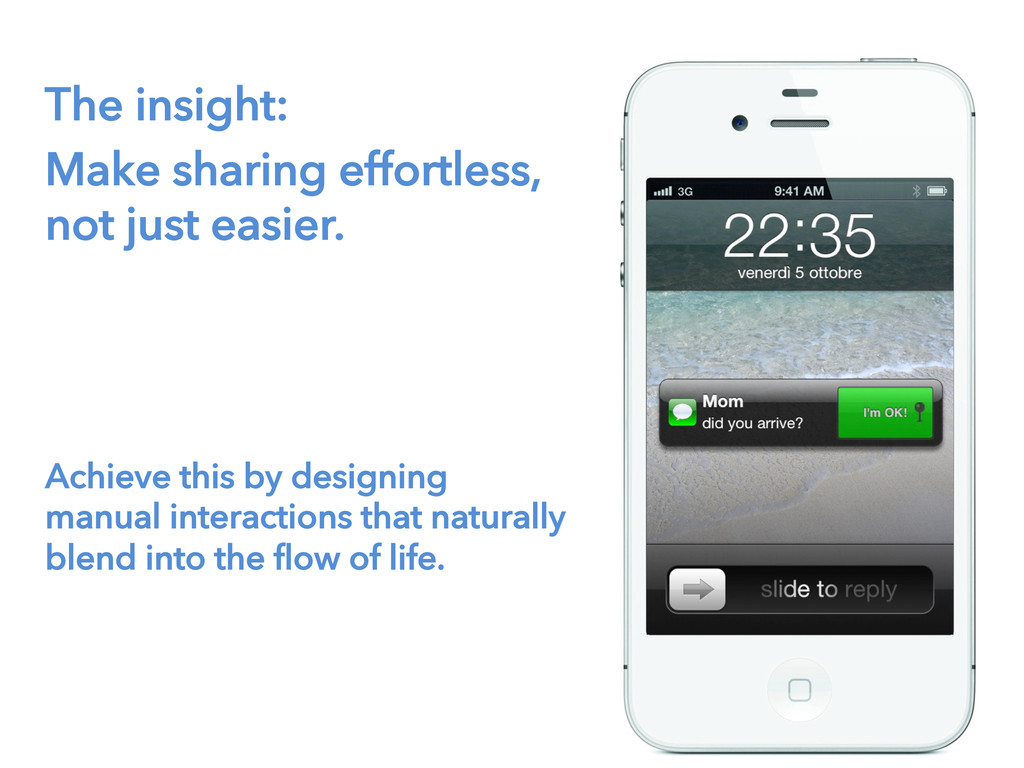 The insight: Make sharing effortless, not just ...