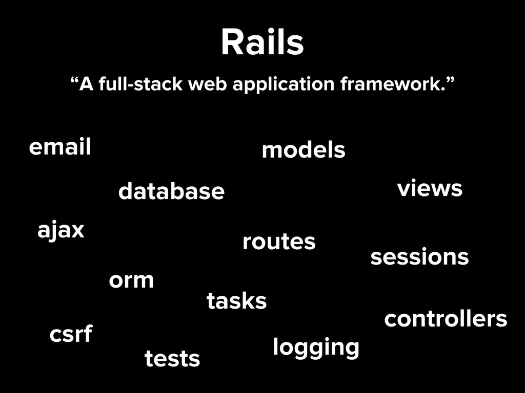 Rails email database ajax orm csrf routes tests...