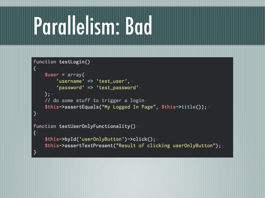 Parallelism: Bad