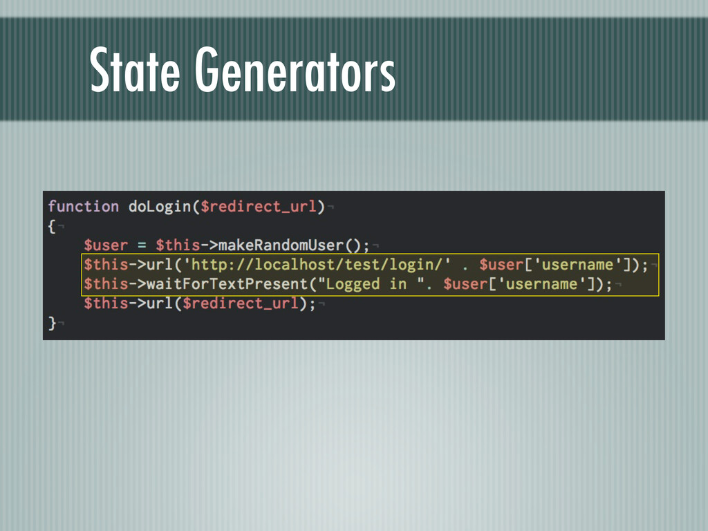 State Generators