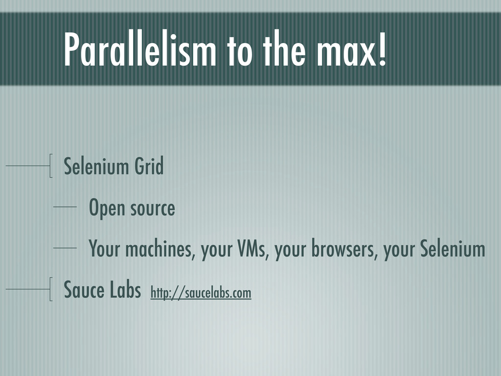 Parallelism to the max! Selenium Grid Open sour...