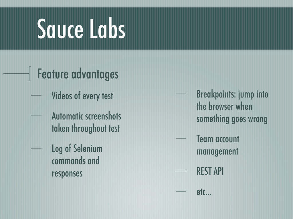 Sauce Labs Feature advantages Videos of every t...