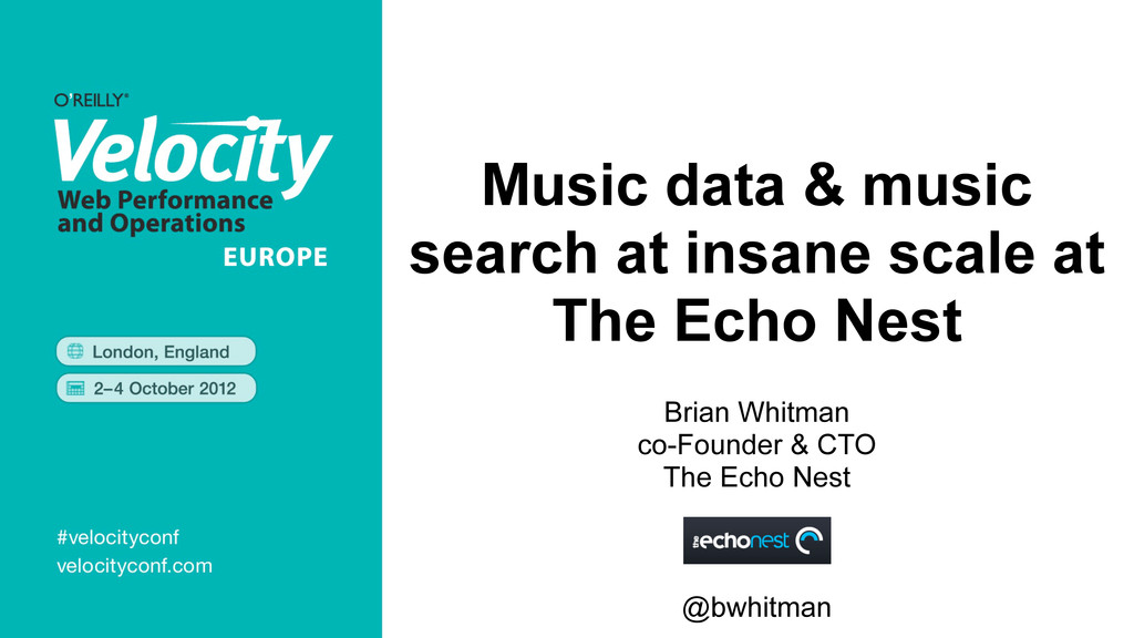 Music data & music search at insane scale at Th...