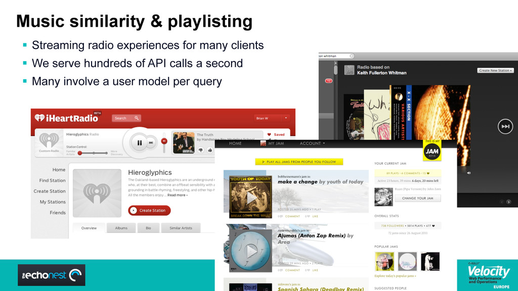 Music similarity & playlisting  Streaming radi...