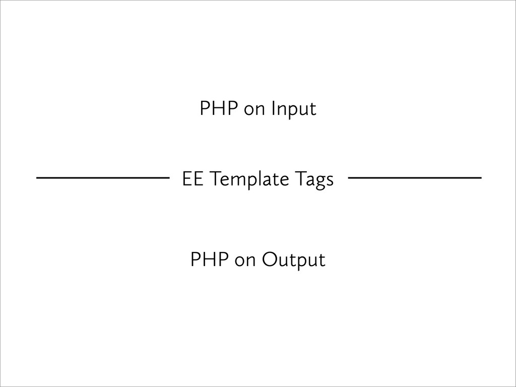 PHP on Input PHP on Output EE Template Tags