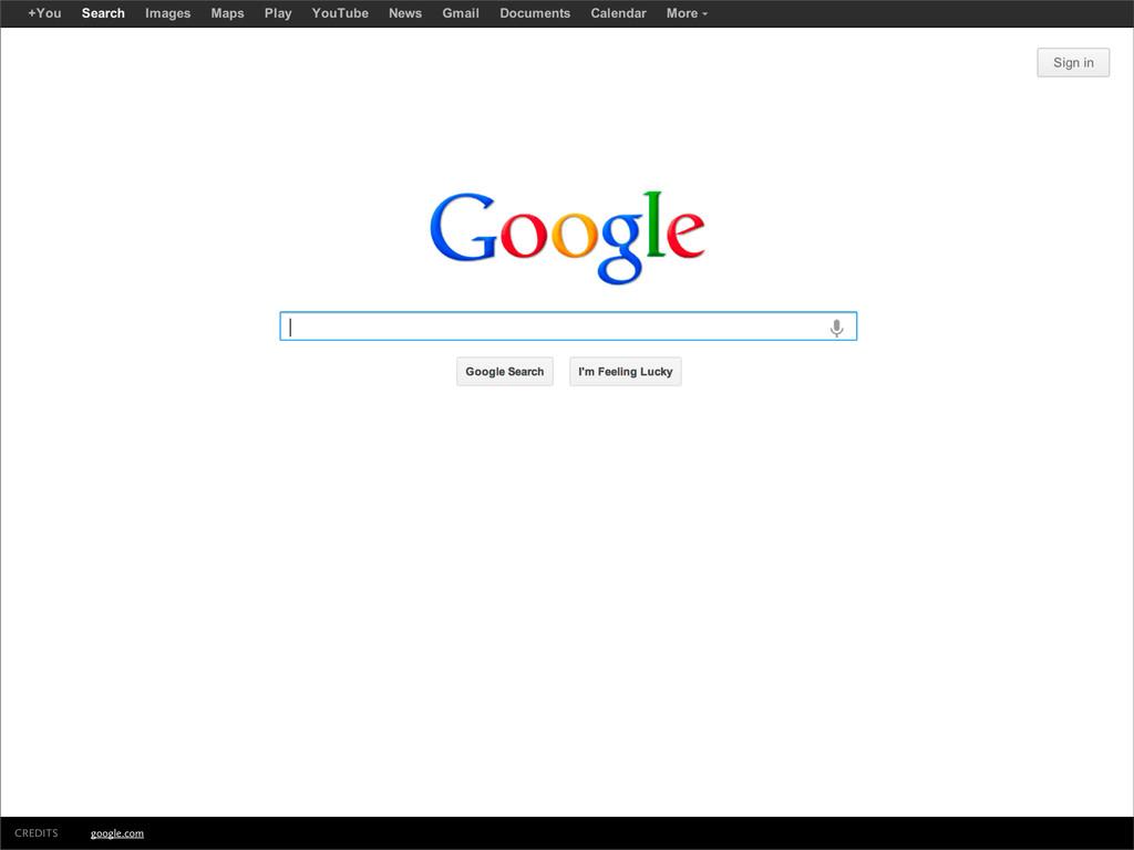 google.com CREDITS