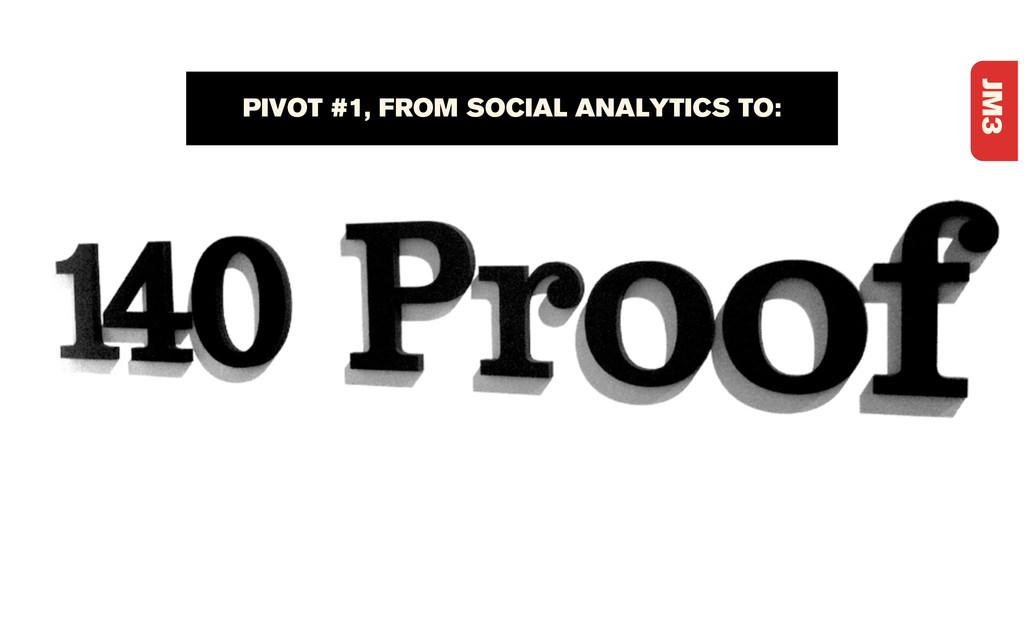 JM3 PIVOT #1, FROM SOCIAL ANALYTICS TO: