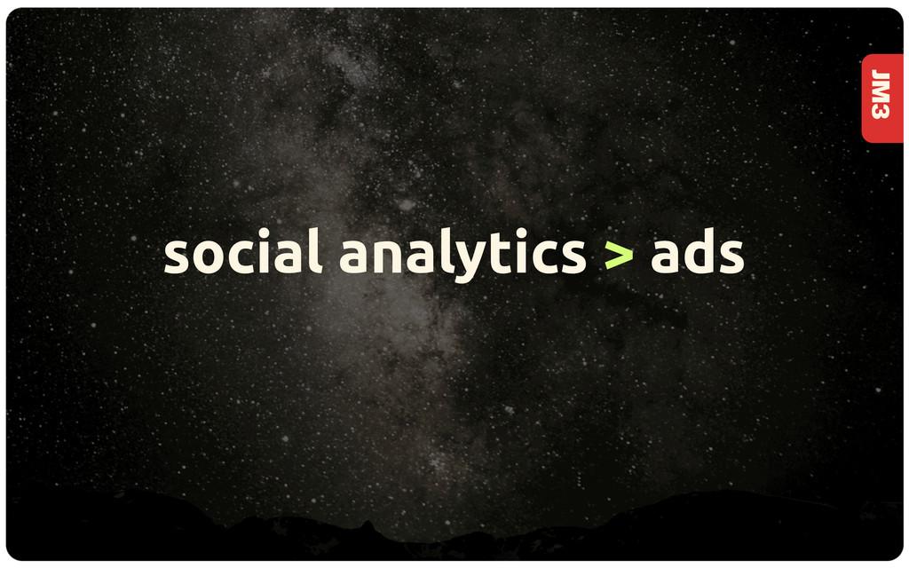 JM3 social analytics > ads