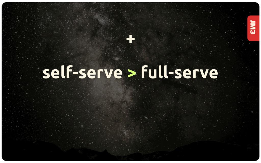 JM3 self-serve > full-serve +