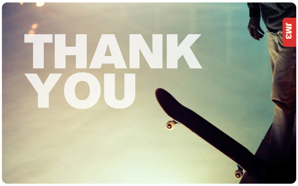 JM3 THANK YOU