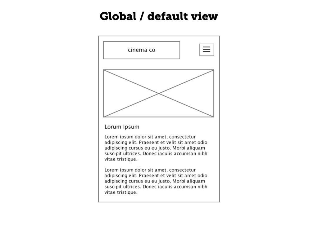 Global / default view