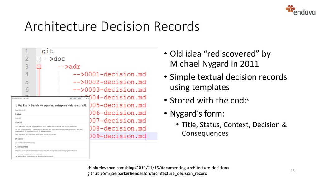 "Architecture Decision Records • Old idea ""redis..."