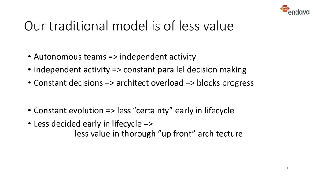 Our traditional model is of less value • Consta...