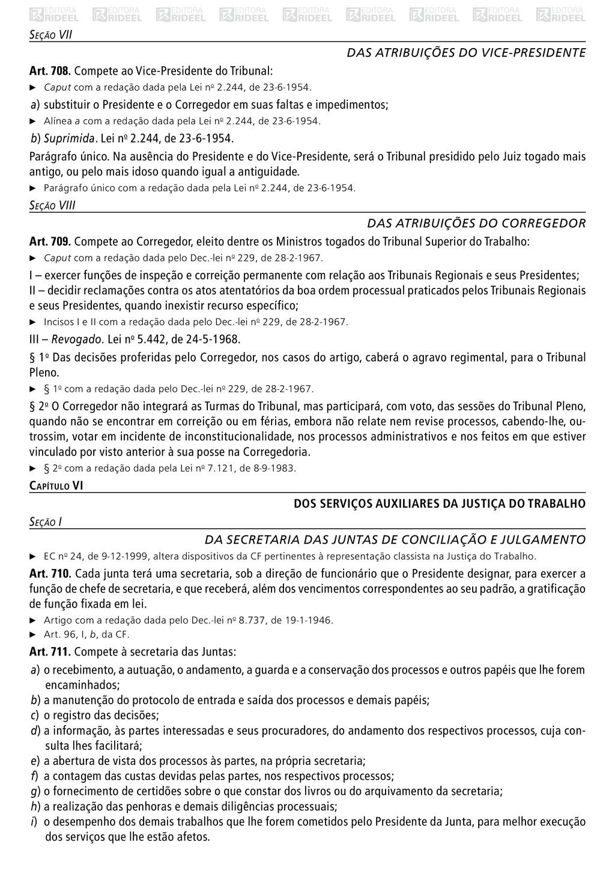 Seção VII Das Atribuições do Vice‑Presidente Ar...