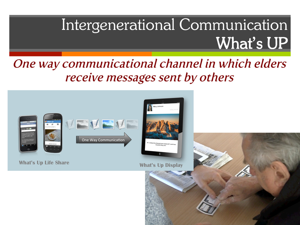 Intergenerational Communication What's UP One w...