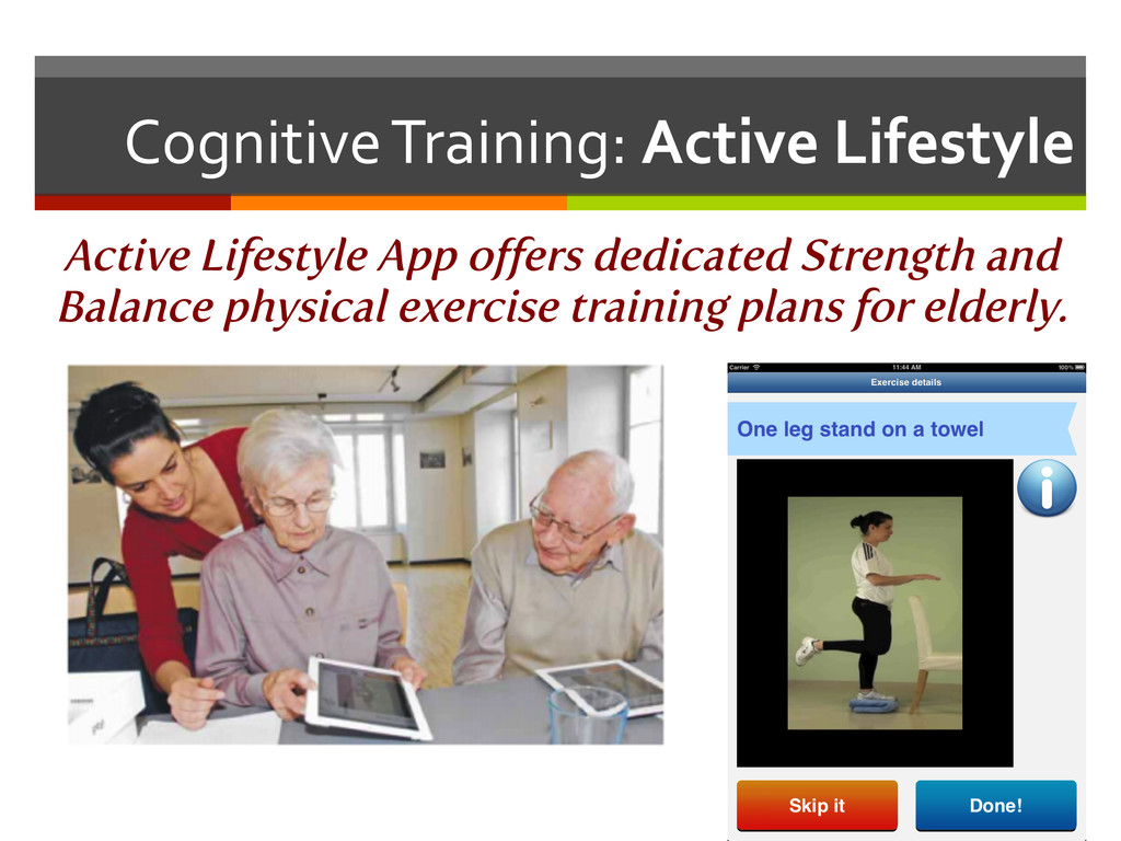 Cognitive Training: Active Lifestyle...
