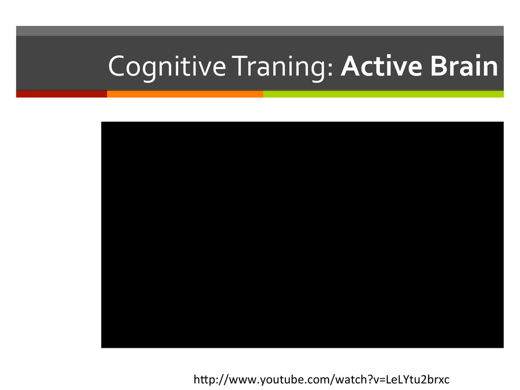 Cognitive Traning: Active Brain  h1...