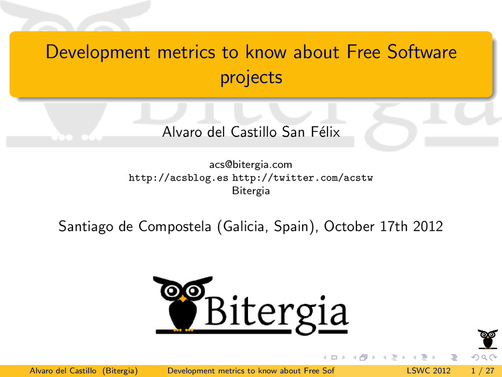 Development metrics to know about Free Software...