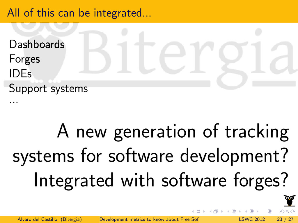 All of this can be integrated... Dashboards For...