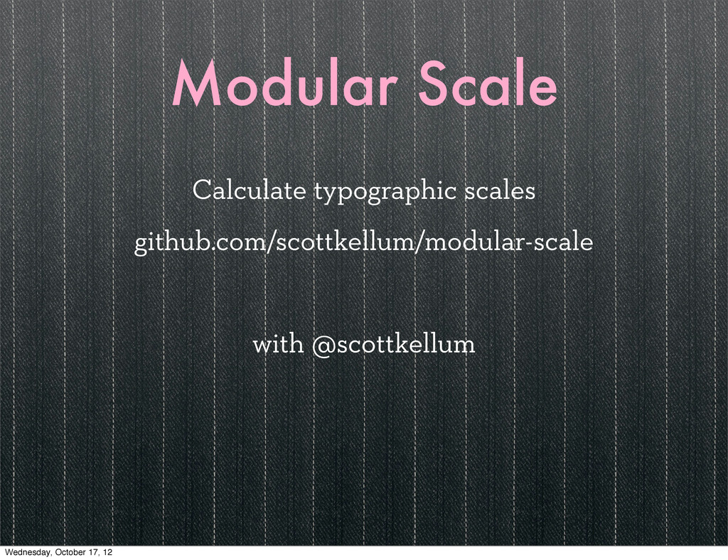 Modular Scale Calculate typographic scales gith...