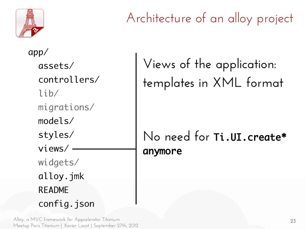 23 Alloy, a MVC framework for Appcelerator Tita...