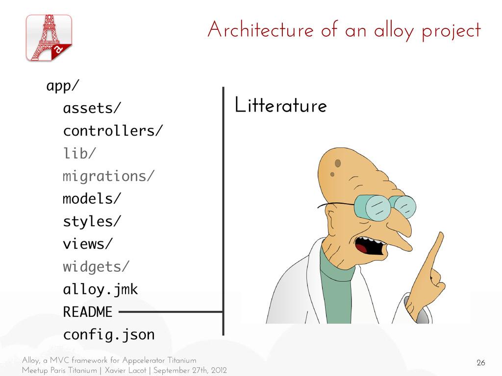26 Alloy, a MVC framework for Appcelerator Tita...