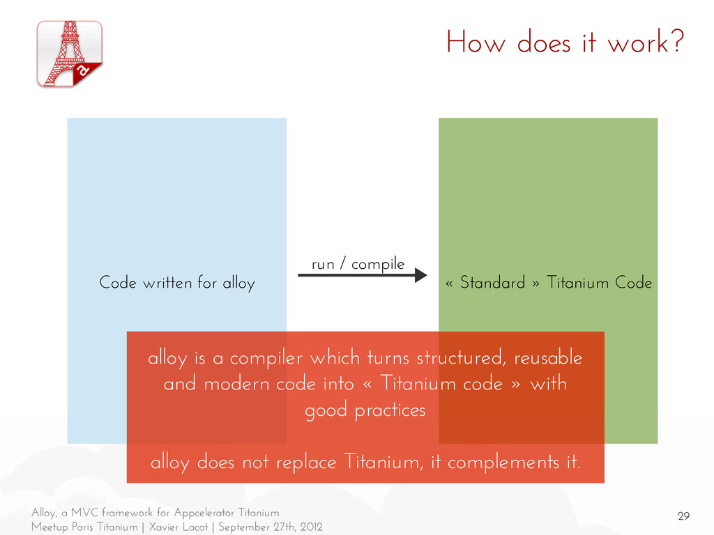 29 Alloy, a MVC framework for Appcelerator Tita...