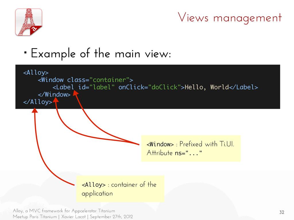 32 Alloy, a MVC framework for Appcelerator Tita...