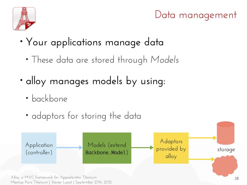 38 Alloy, a MVC framework for Appcelerator Tita...
