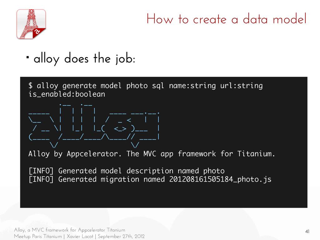 41 Alloy, a MVC framework for Appcelerator Tita...
