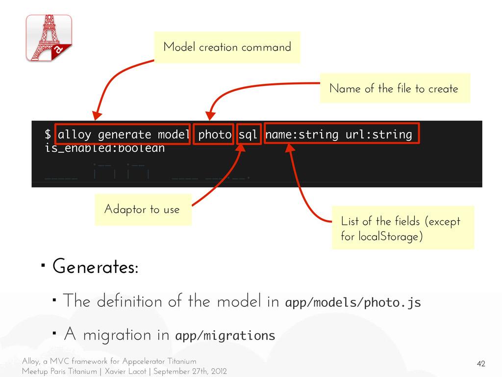 42 Alloy, a MVC framework for Appcelerator Tita...