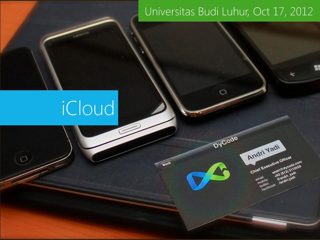 iCloud Universitas Budi Luhur, Oct 17, 2012