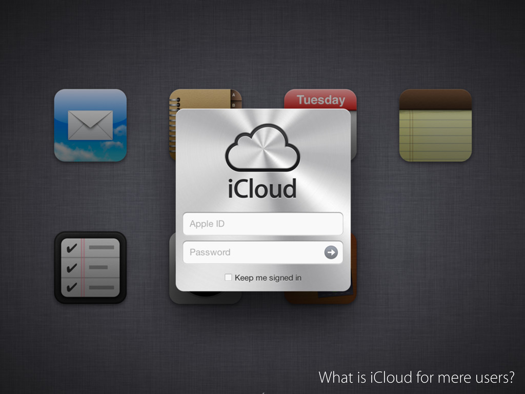 What is iCloud for mere users?