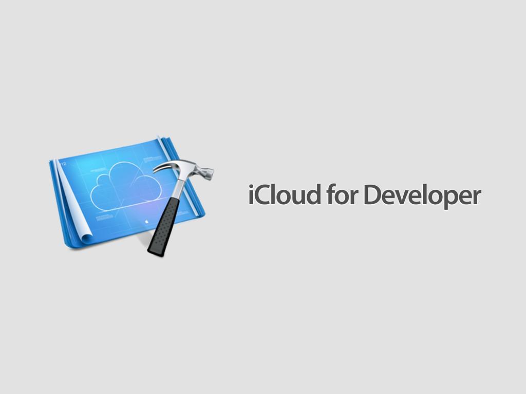 iCloud for Developer